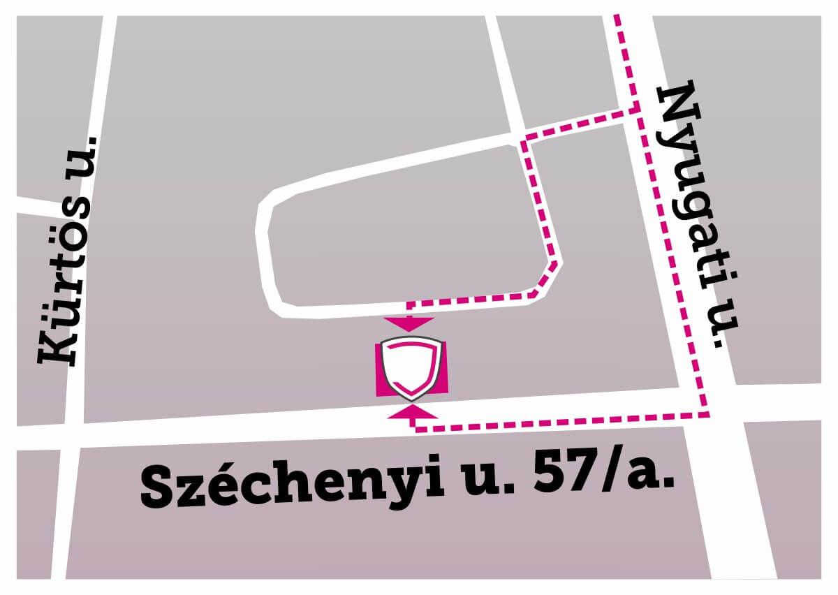 Debrecen új boltunk megközelítés