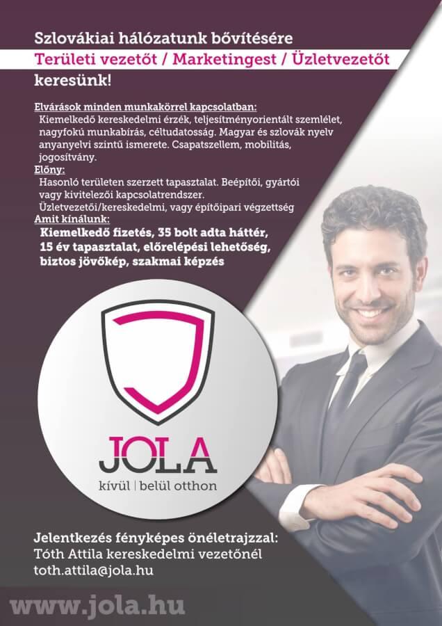 Területi vezetőt, Marketingest, Üzletvezetőt keresünk Szlovákiábaba!