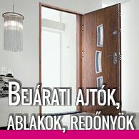 Bejárati ajtók, ablakok, redőnyök